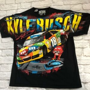 NASCAR Chase Authentics Kyle Busch M&M T Shirt L